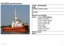 MARINE ASSET AVAILABLE FOR SALE!!!