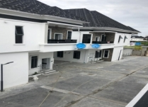 BRAND NEW BUILT 4BEDROOM SEMIDETACHED DUPLEX WITH BQ AT ORAL LEKKI BY CHEVRON LEKKI LAGOSFULLY SERVICED ESTATE!!!