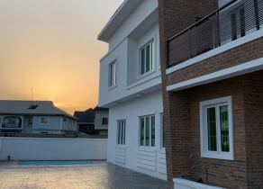 NEWLY BUILT 4BEDROOM DETACHED DUPLEX PLUS BQ IN SECURED AND HIGHLY SERENE AT IKATE LEKKI CLOSE LEKKI PHASE1 LAGOS!!!